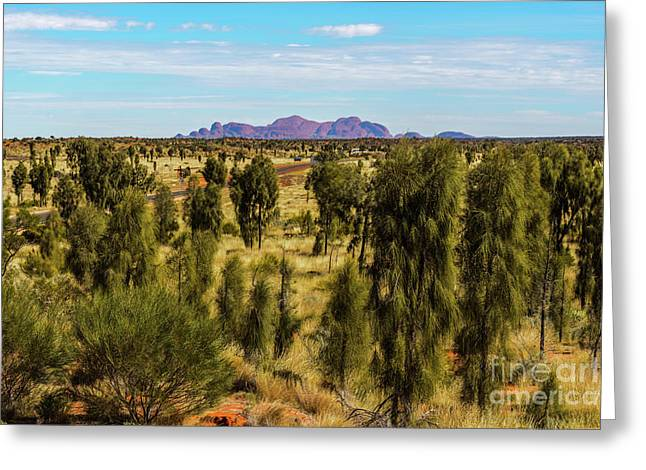 Greeting Card featuring the photograph Kata Tjuta 01 by Werner Padarin