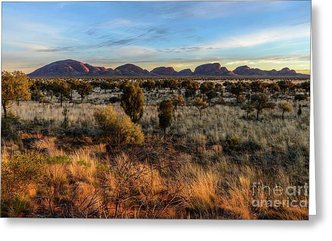 Greeting Card featuring the photograph Kata Tjuta 02 by Werner Padarin