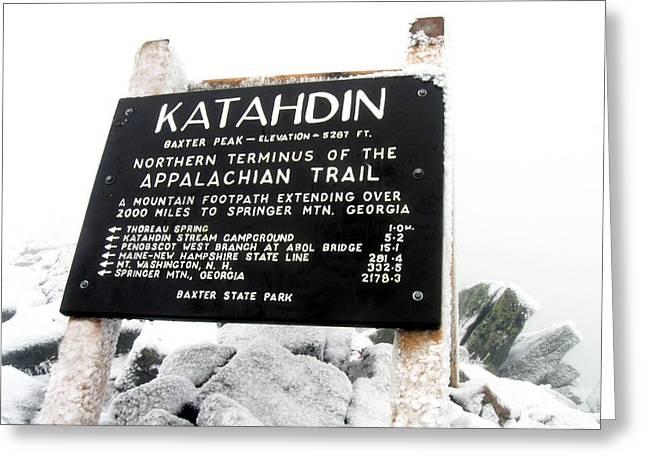 Appalachian Trail Katahdin - Baxter Peak Greeting Card