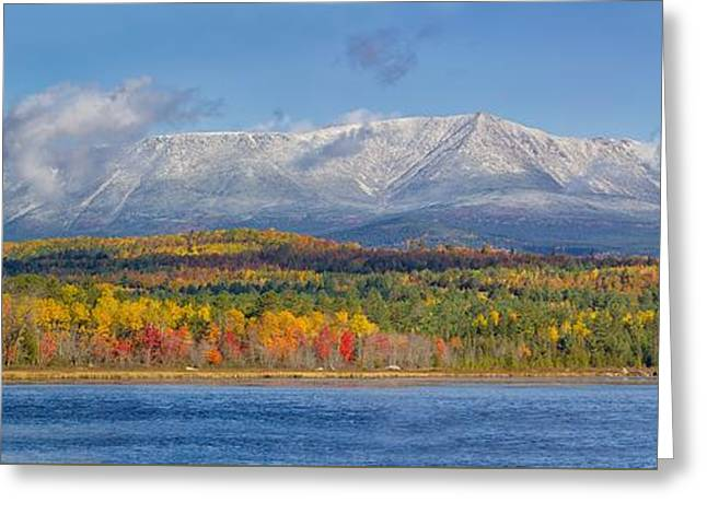 Katahdin In Fall Greeting Card