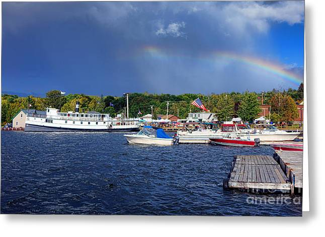 Katahdin Steamboat In Greenville Harbor Greeting Card