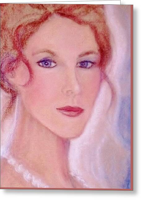 Greeting Card featuring the drawing Kate by Denise Fulmer