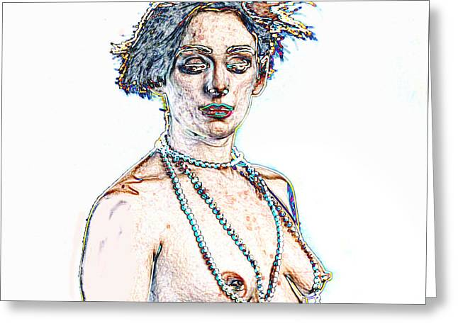 Kate In Nude Fine Art Painting Nude Girl Prints 1195.02 Greeting Card