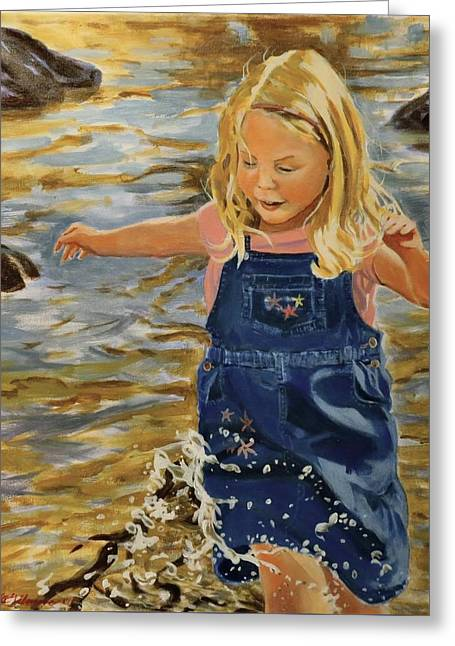 Kate Splashing Greeting Card