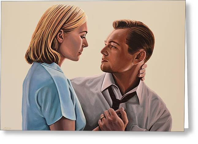 Kate Winslet And Leonardo Dicaprio Greeting Card