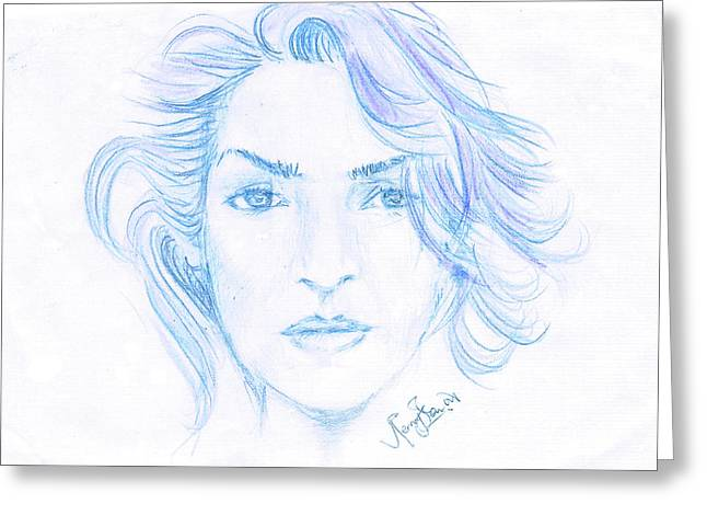 Kate Winslet Greeting Card by Remy Francis