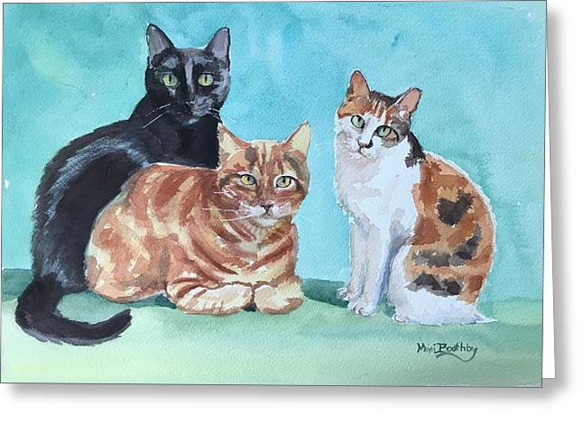 Kates's Cats Greeting Card