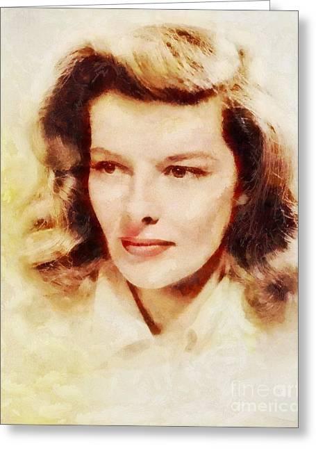 Katharine Hepburn, Vintage Hollywood Legend Greeting Card