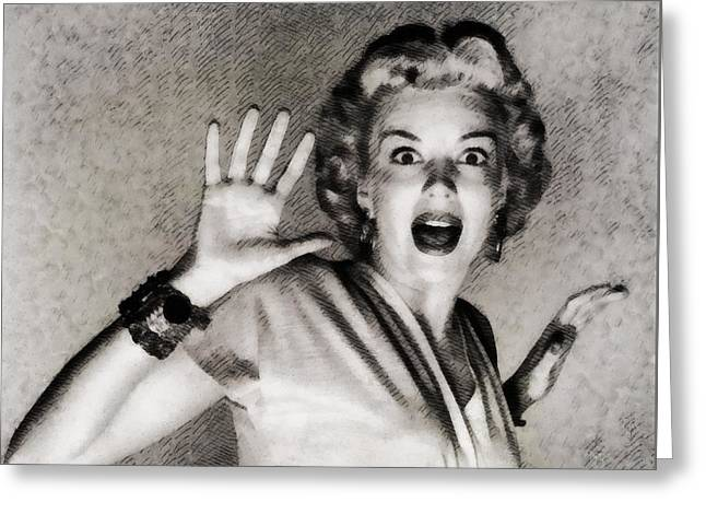 Kathleen Hughes In It Came From Outer Space Greeting Card