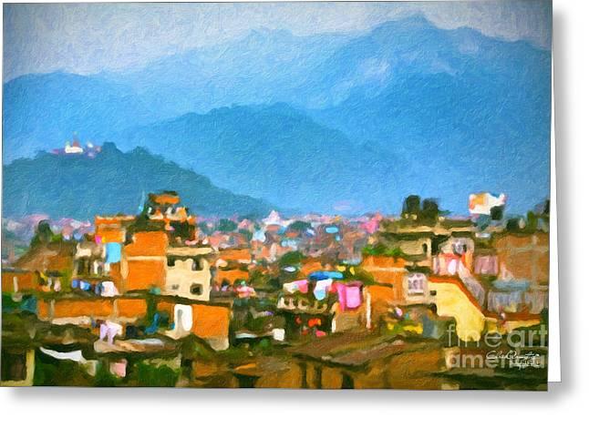 Kathmandu, Nepal Greeting Card