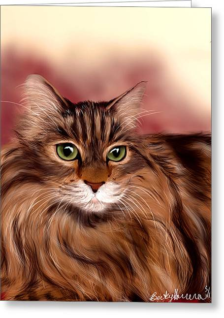 Katie- Custom Cat Portrait Greeting Card