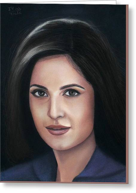 Katrina Kaif - Pastel Greeting Card