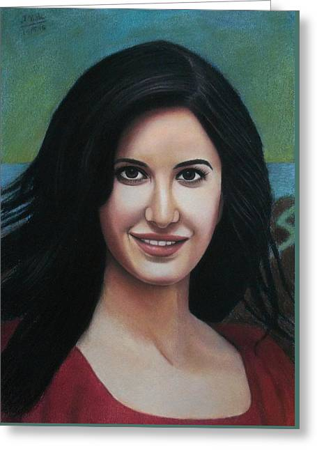 Katrina - The Beauty Of India Greeting Card