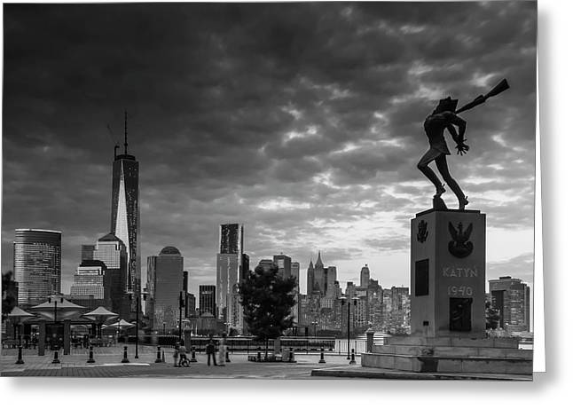 Greeting Card featuring the photograph Katyn New World Trade Center In New York by Ranjay Mitra
