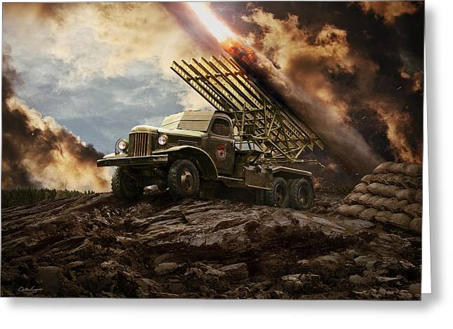 Katyusha Soviet Rocket Launcher Greeting Card