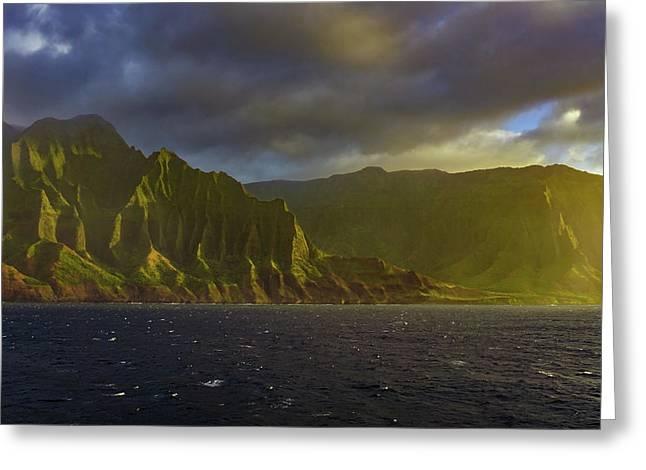 Kauai Golden Sunset Greeting Card