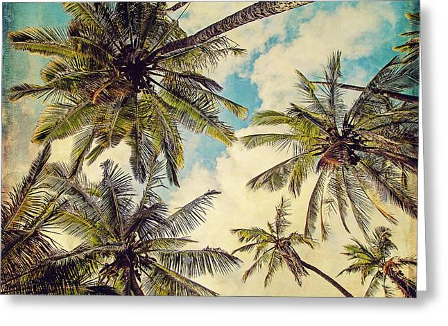 Kauai Island Palms - Blue Hawaii Photography Greeting Card