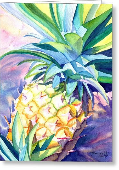 Kauai Pineapple 3 Greeting Card