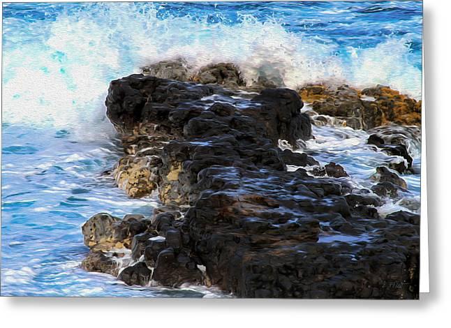 Kauai Rock Splash Greeting Card
