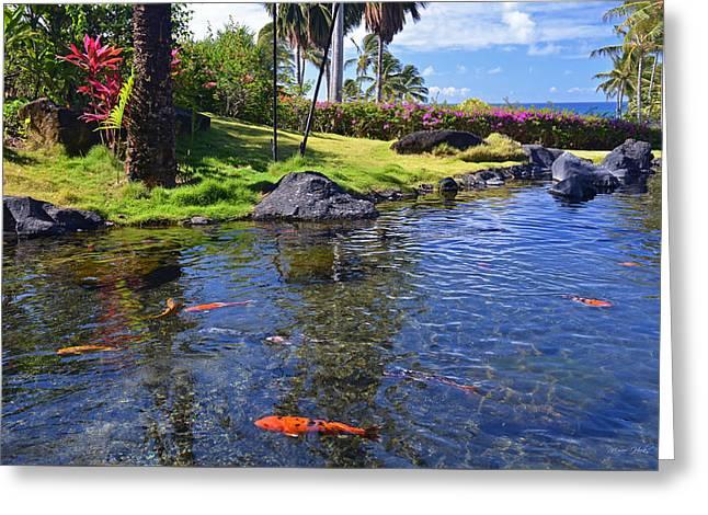 Kauai Serenity Greeting Card by Marie Hicks
