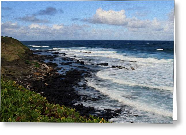 Kauai Shore 1 Greeting Card
