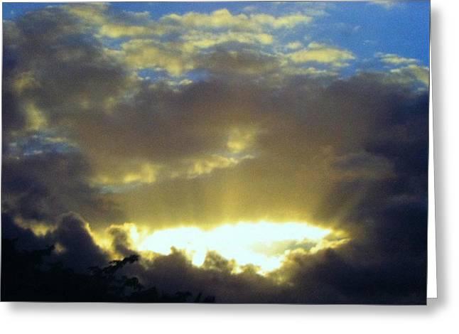 Kaua'i Sunset Greeting Card by Alohi Fujimoto