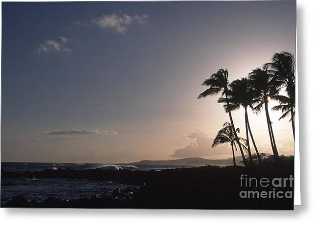 Kauai Sunset Greeting Card by Stan and Anne Foster