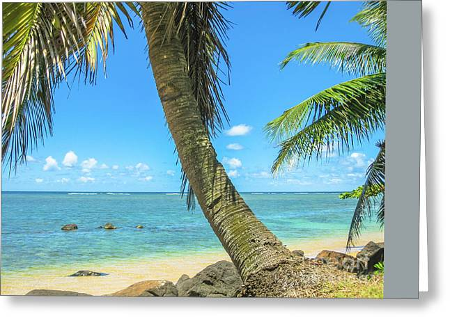 Kauai Tropical Beach Greeting Card
