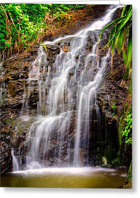 Kauai Water Cascade Greeting Card