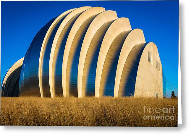 Kauffman Center For The Performing Arts Greeting Card by Inge Johnsson
