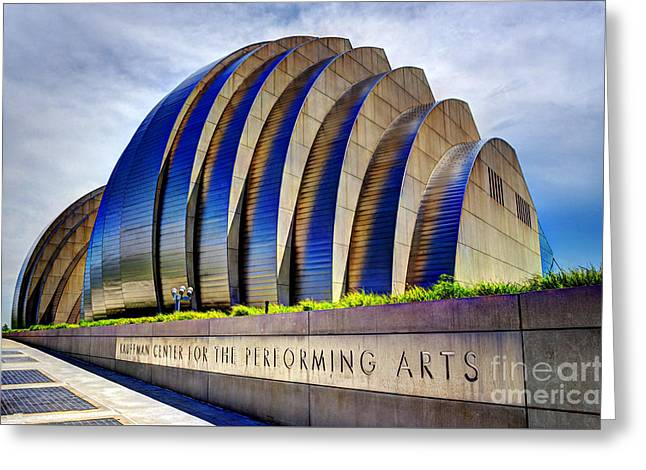 Kauffman Center For The Performing Arts Greeting Card by Jean Hutchison