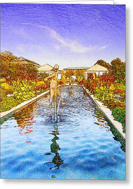 Kauffman Memorial Garden Reflections Rendering 16 Greeting Card