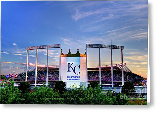 Royals Kauffman Stadium 2015 World Champions Greeting Card