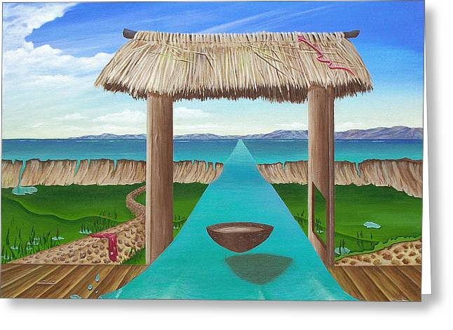 Kava Flow Greeting Card by Sharon Ebert