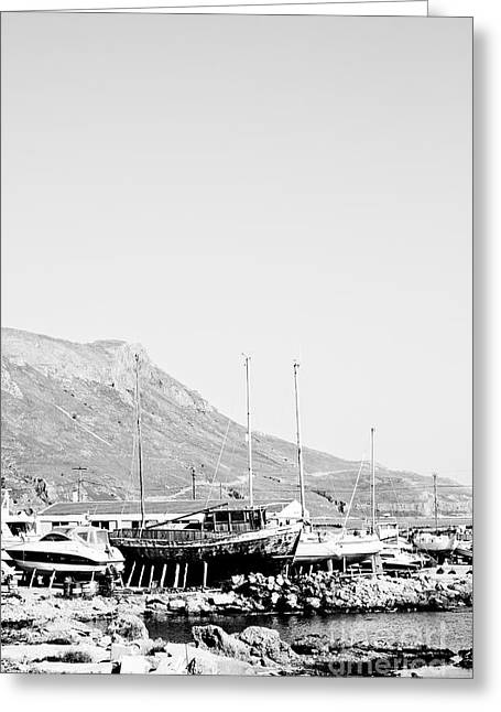 Kavonisi Harbour Greeting Card by Gabriela Insuratelu