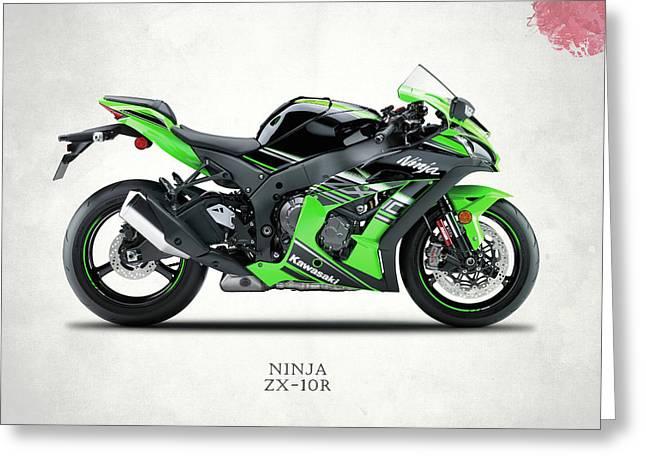 Kawasaki Ninja Zx-10r Greeting Card