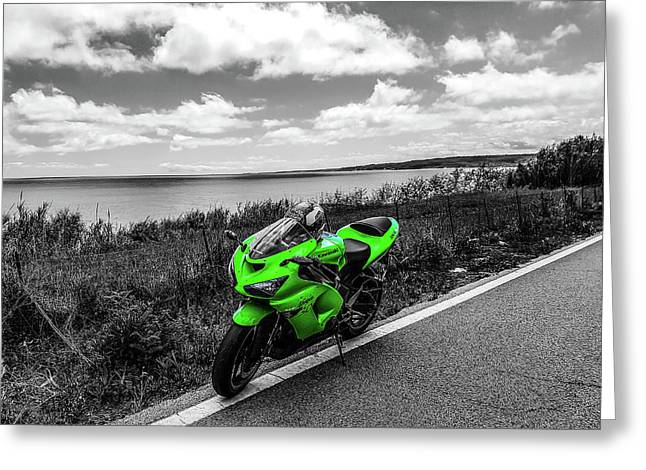 Kawasaki Ninja Zx-6r 2 Greeting Card