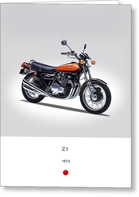 Kawasaki Z1 Greeting Card by Mark Rogan