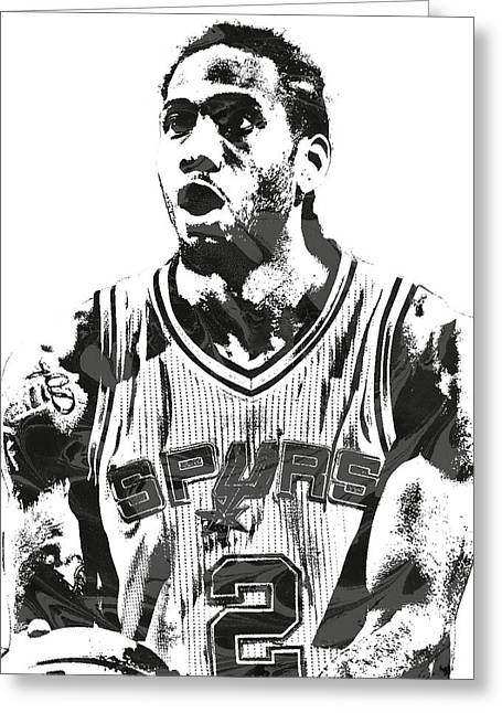 Kawhi Leonard San Antonio Spurs Pixel Art 4 Greeting Card