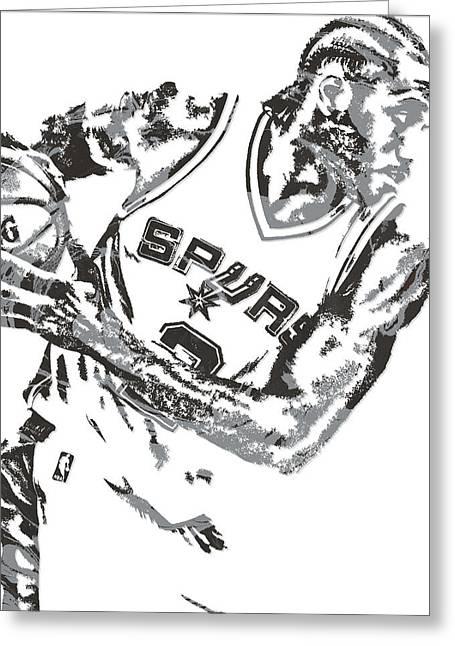 Kawhi Leonard San Antonio Spurs Pixel Art 5 Greeting Card