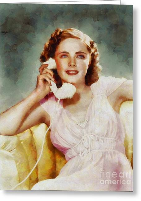 Kay Aldridge, Vintage Hollywood Actress Greeting Card by Sarah Kirk