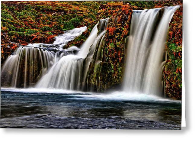 Greeting Card featuring the photograph Kay Falls by Scott Mahon
