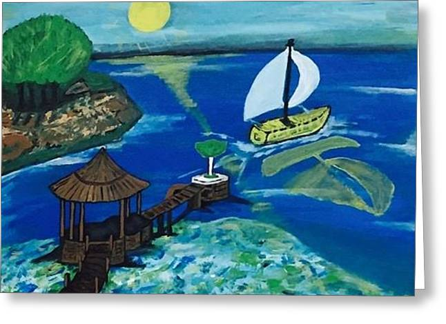 Kaya Mawa Resort, Lake Malawi, Africa Greeting Card
