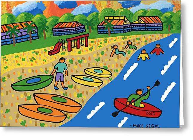 Kayak Beach - Cedar Key Greeting Card