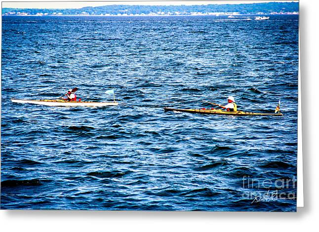 Kayak Dreams Greeting Card by Keith Rousseau