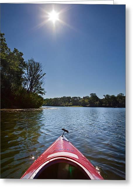 Kayak Morning Greeting Card