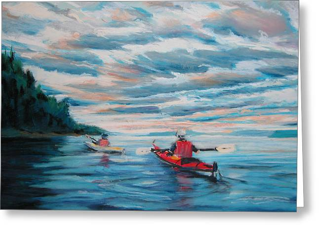 Kayakers Greeting Card