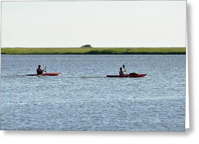 Al Powell Photography Usa Greeting Cards - Kayaking Couple Greeting Card by Al Powell Photography USA