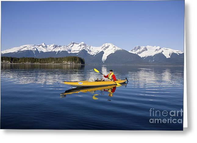Kayaking Favorite Passage Greeting Card by John Hyde - Printscapes