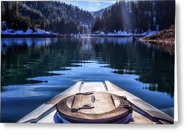 Kayaking In Mccloud Greeting Card